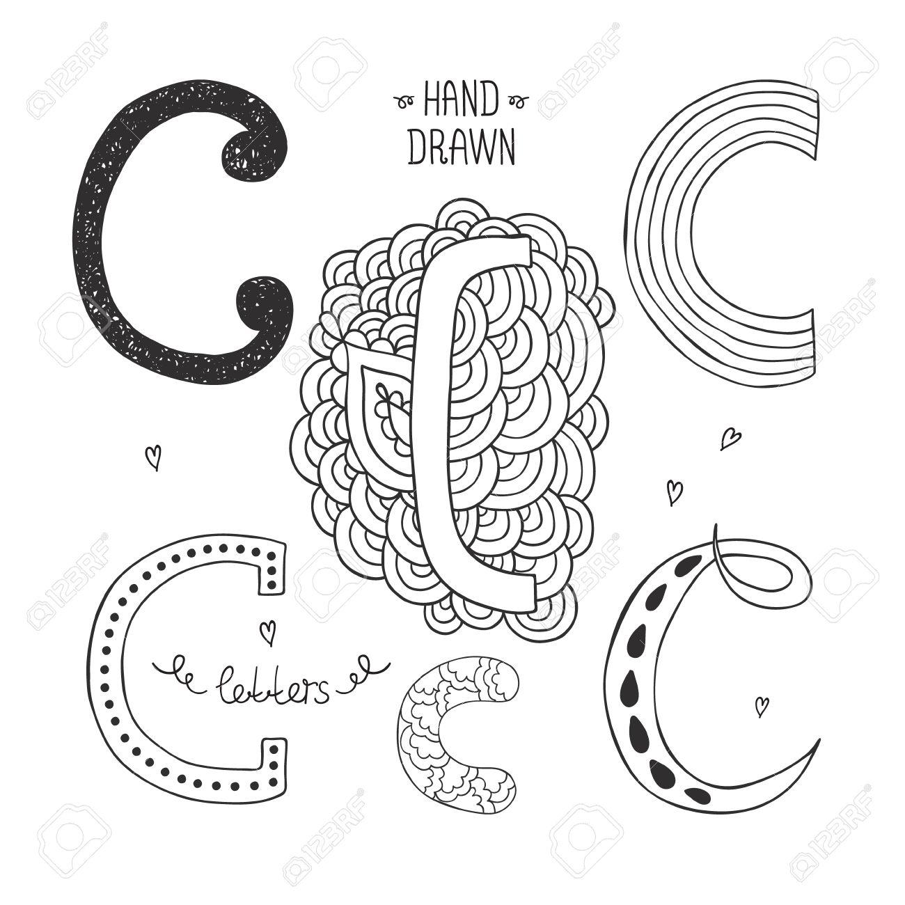 Vector hand drawn alphabet letter c doodle letters set isolated vector vector hand drawn alphabet letter c doodle letters set isolated on white background altavistaventures Gallery