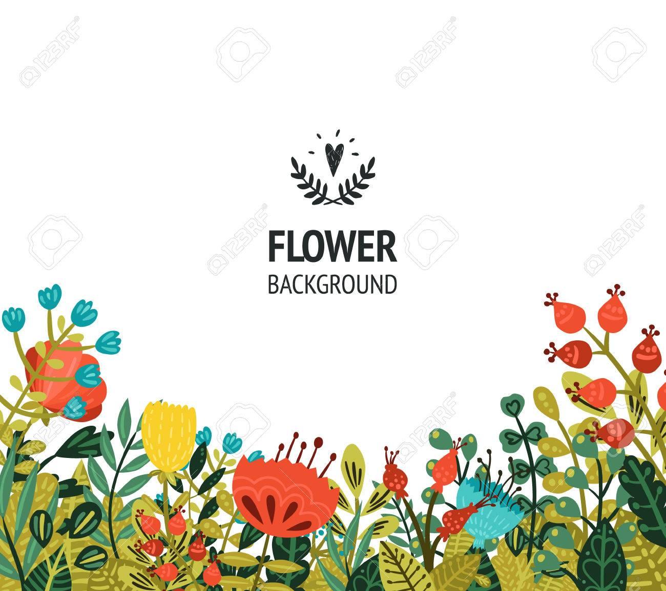 Fondo Floral Con Flores Lindos Para El Diseño Las Tarjetas De Fecha Invitaciones Web Carteles Y Decoraciones De Cumpleaños