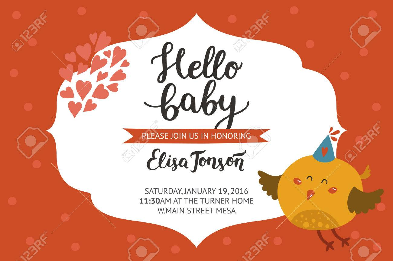 Dorable Baby Shower Bird Invitations Picture Collection ...