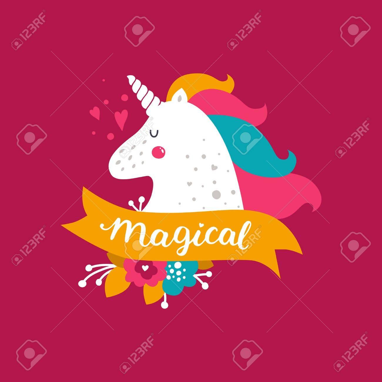 vector baby unicorn kids illustration for design prints cards