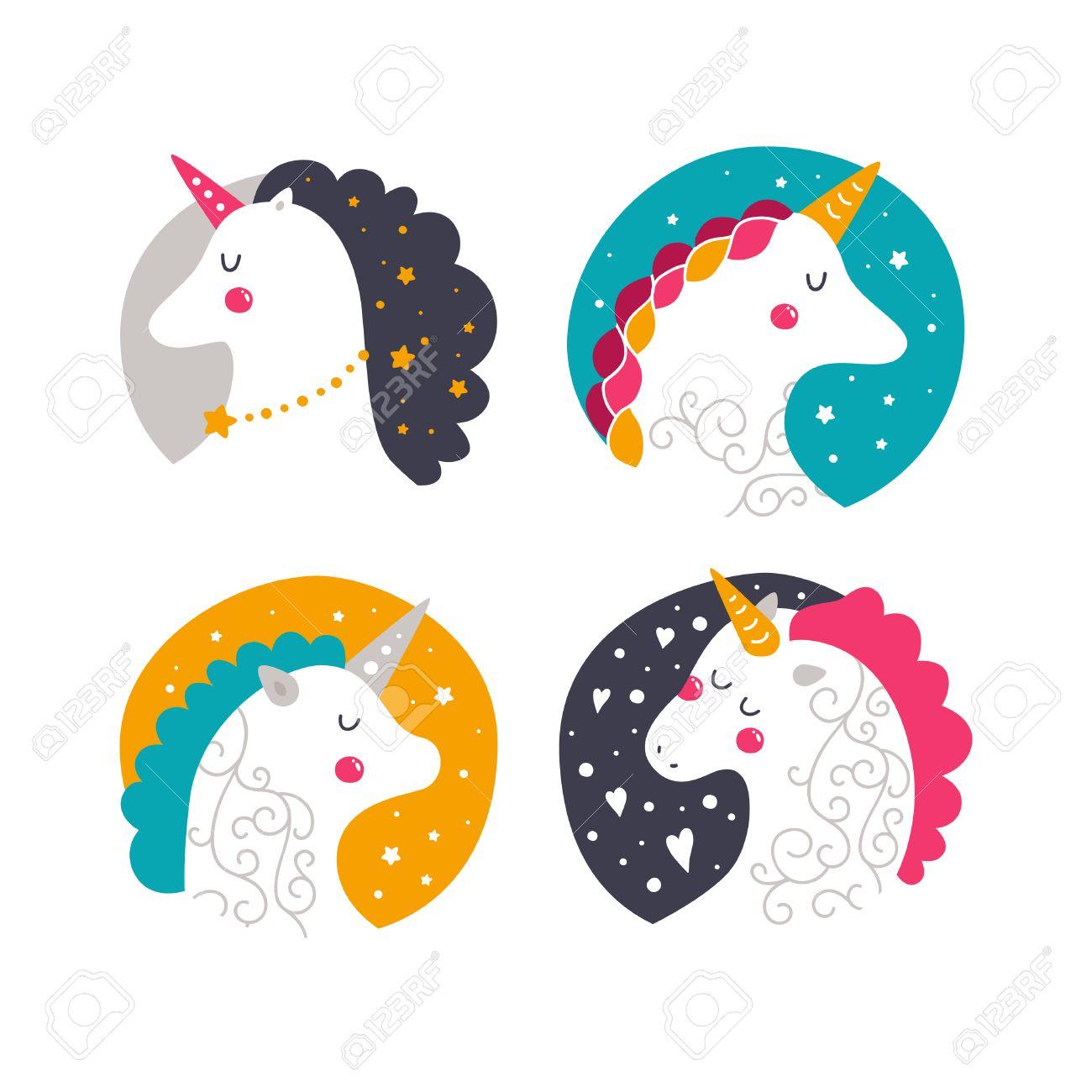 Vector Bebé Unicornio Ilustración Infantil Para Las Impresiones De Diseño Tarjetas E Invitaciones De Cumpleaños Los Niños Se Imprimen Con