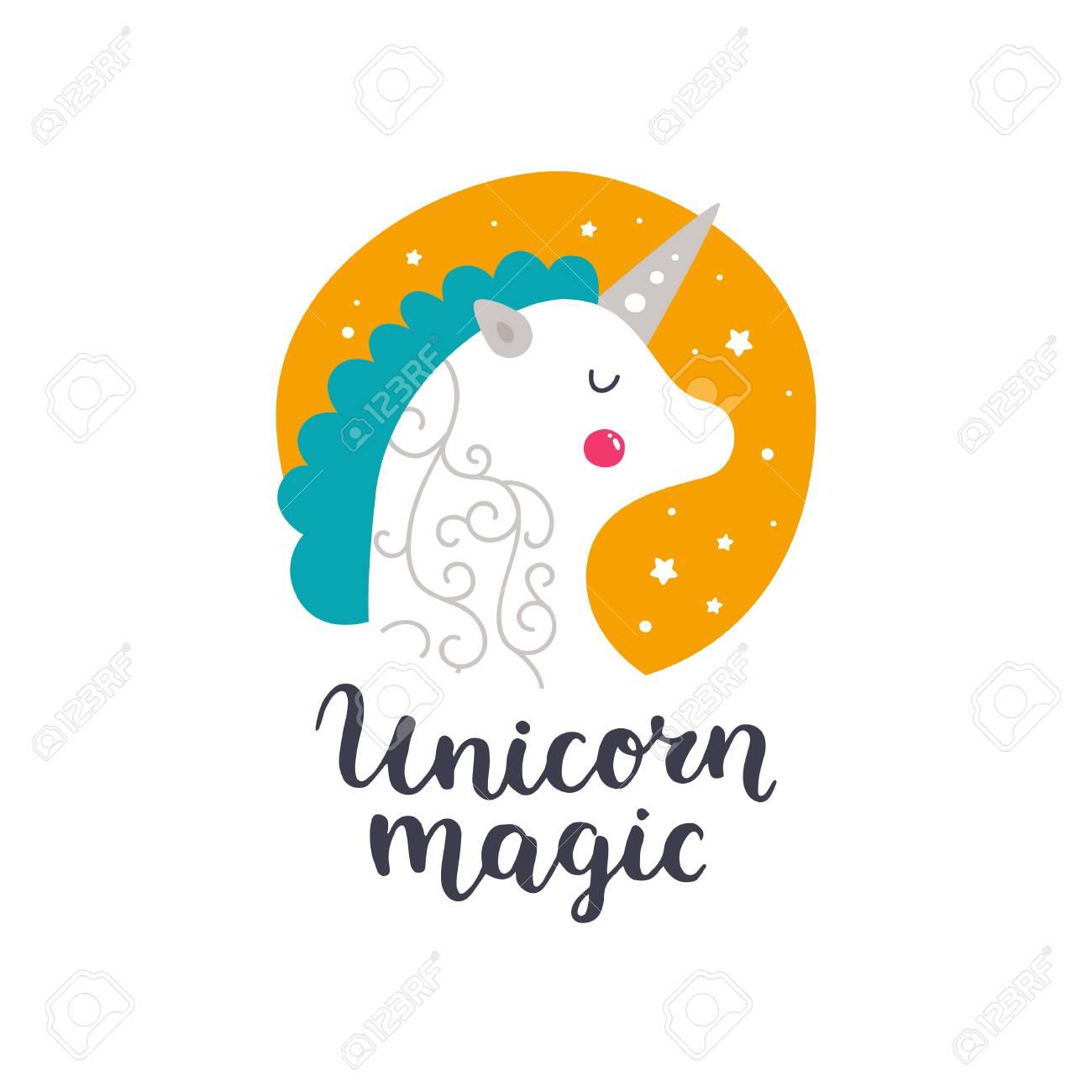 Vector Bebé Unicornio Ilustración De Niños Para Impresiones De Diseño Tarjetas E Invitaciones De Cumpleaños Tarjeta De Niña Con Lindo Unicornio