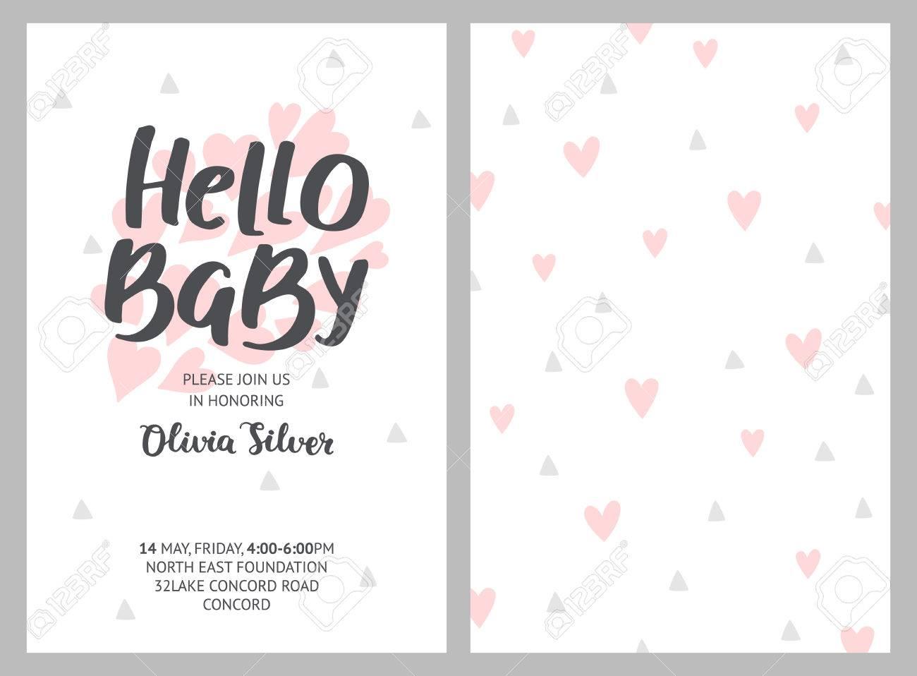 Ungewöhnlich Probe Einladung Für Baby Dusche Bilder - Bilder für ...