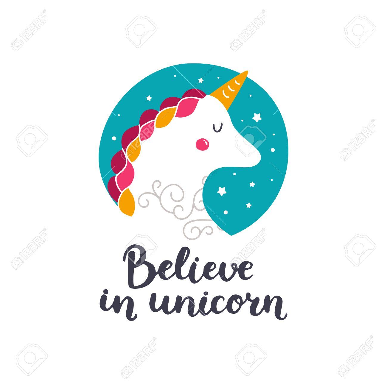 Vector Bebé Unicornio Ilustración Infantil Para Las Impresiones De Diseño Tarjetas E Invitaciones De Cumpleaños Tarjetas De La Chica Con Unicornio