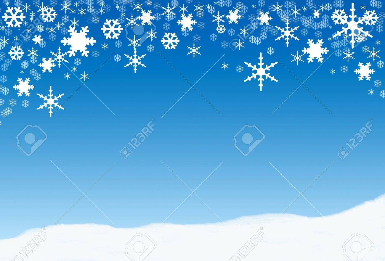Snowflakes, winter background for text Stock Photo - 5811754