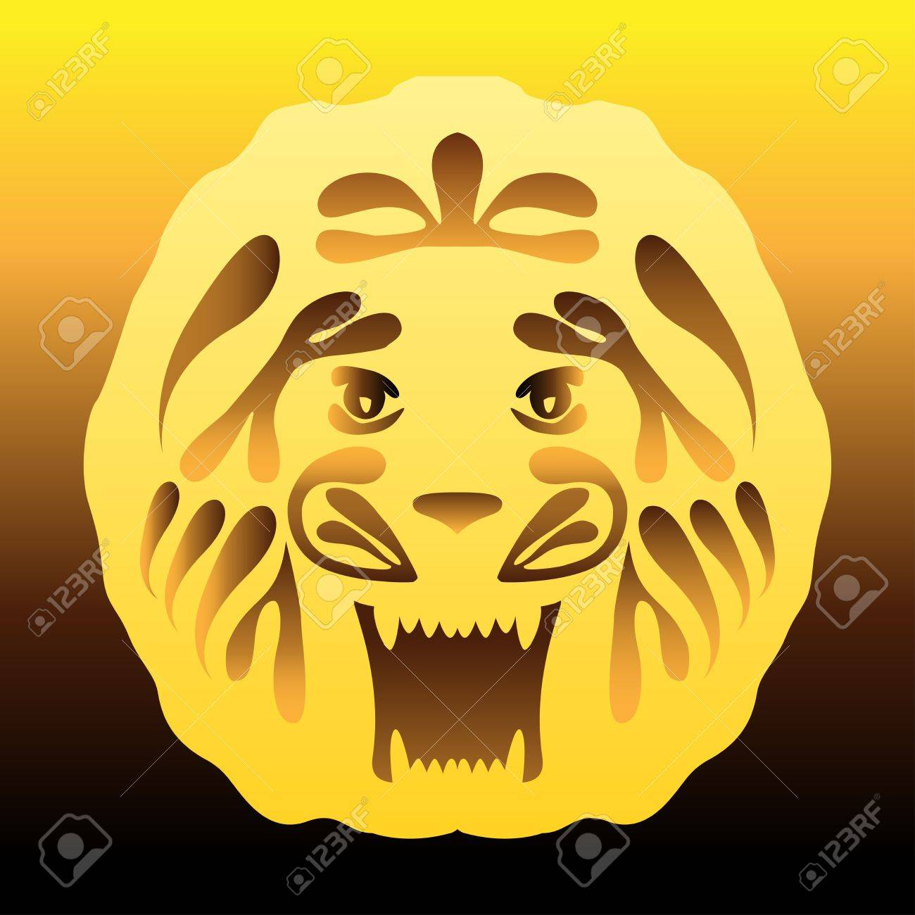 lion with a gold mane Stock Vector - 17247577