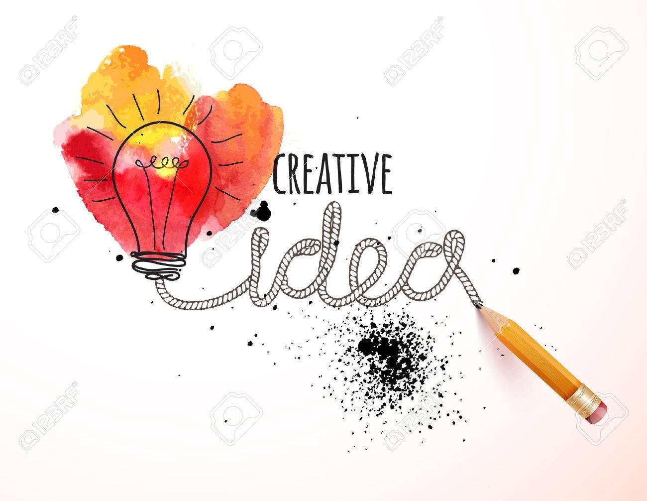 Creative idea loaded, vector concept for inspiration - 45067223