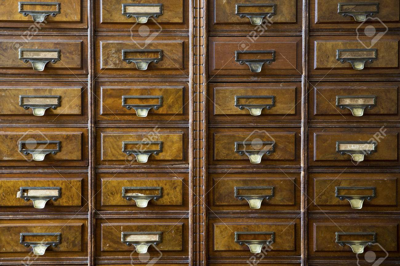 Close Up Of A Very Old Apothecary Cabinet Stock Photo   54374508