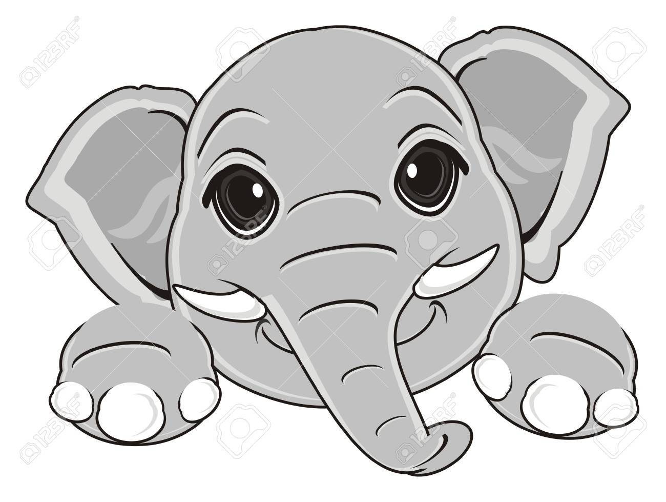 Happy Face Of Elephant Stock Photo, Picture And Royalty Free Image ...