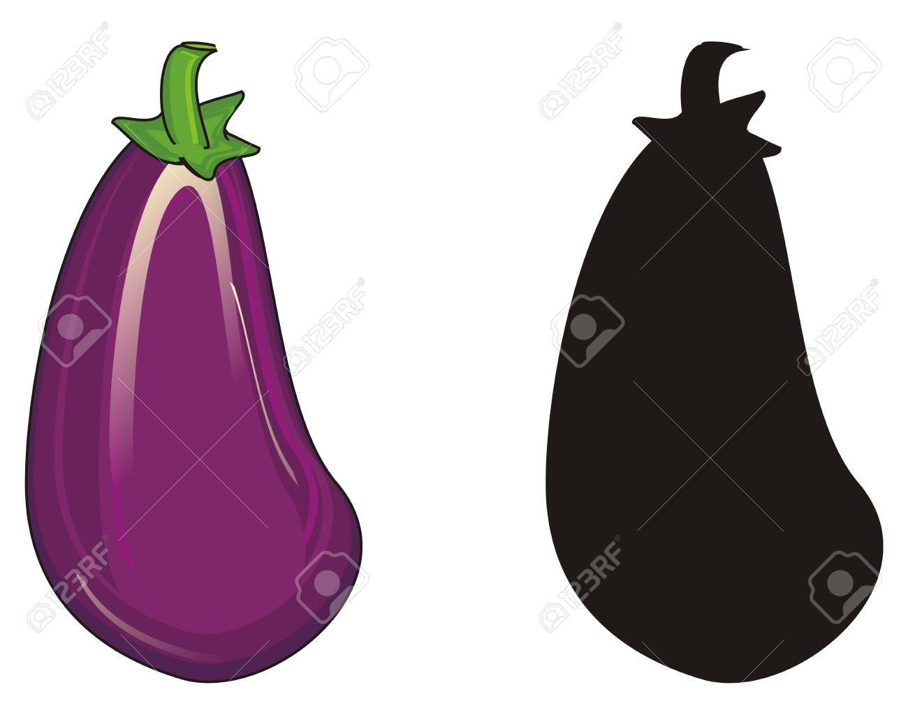 colored eggplant with solid black eggplant stock photo picture and