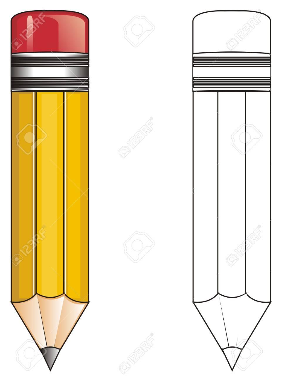 Crayon De Couleur Avec Un Crayon à Colorier
