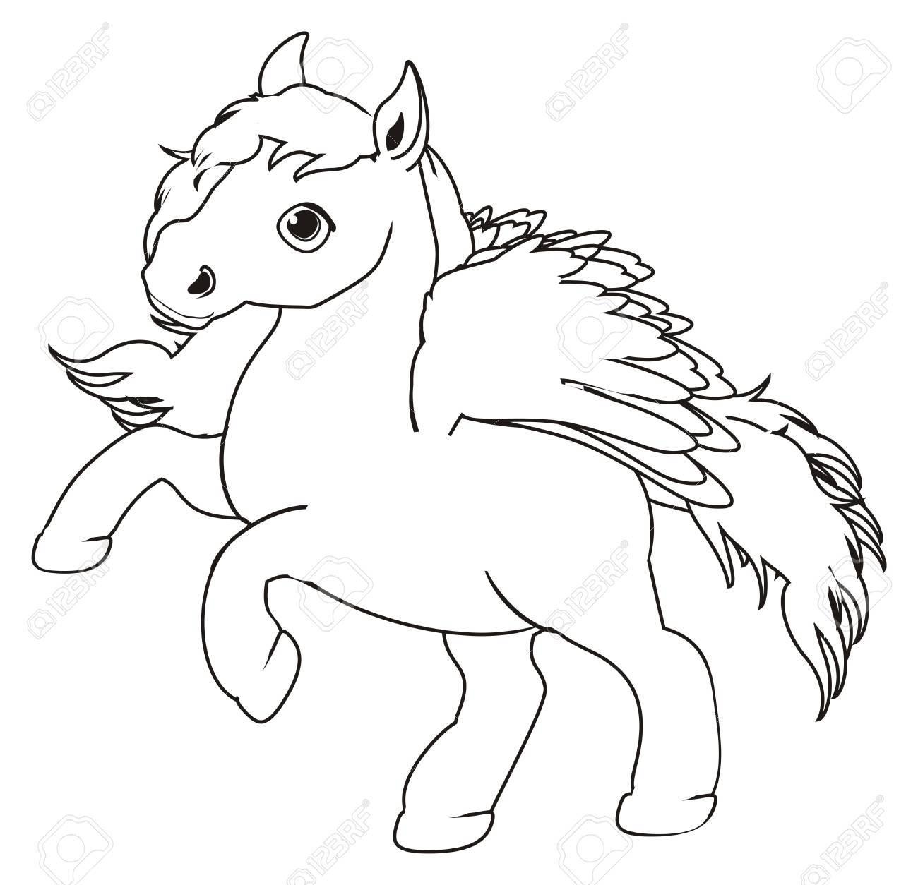 Süße Pegasus Färben Lizenzfreie Fotos, Bilder Und Stock Fotografie ...