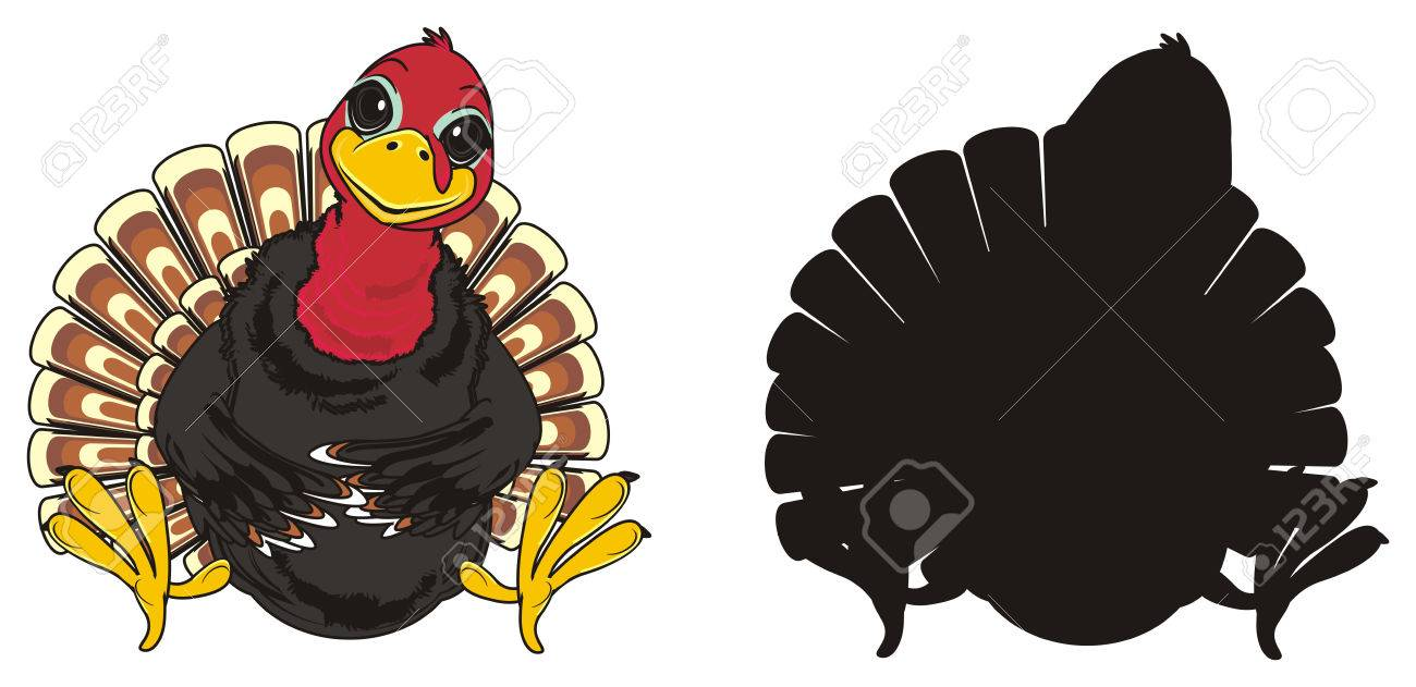 Colored Turkey With Solid Black Turkey Stock Photo, Picture And ...