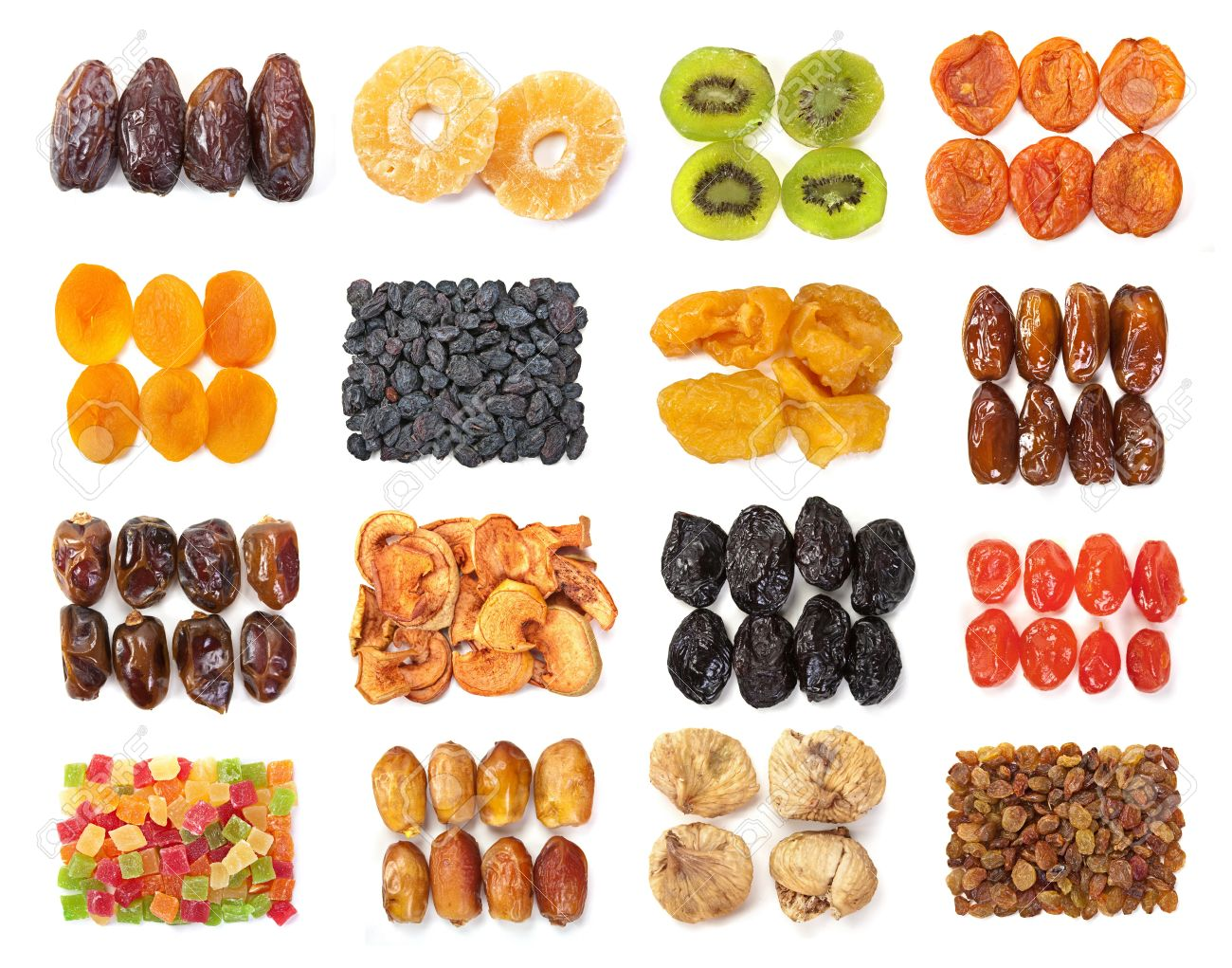 Dry fruit mix set isolated on white background Stock Photo - 8650782