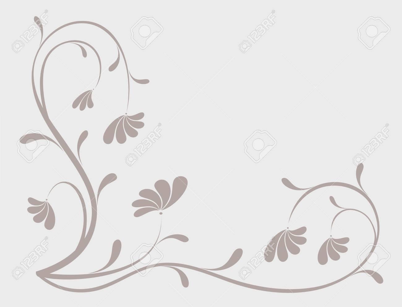 Grunge paint flower background, element for design, vector illustration Stock Vector - 2772237