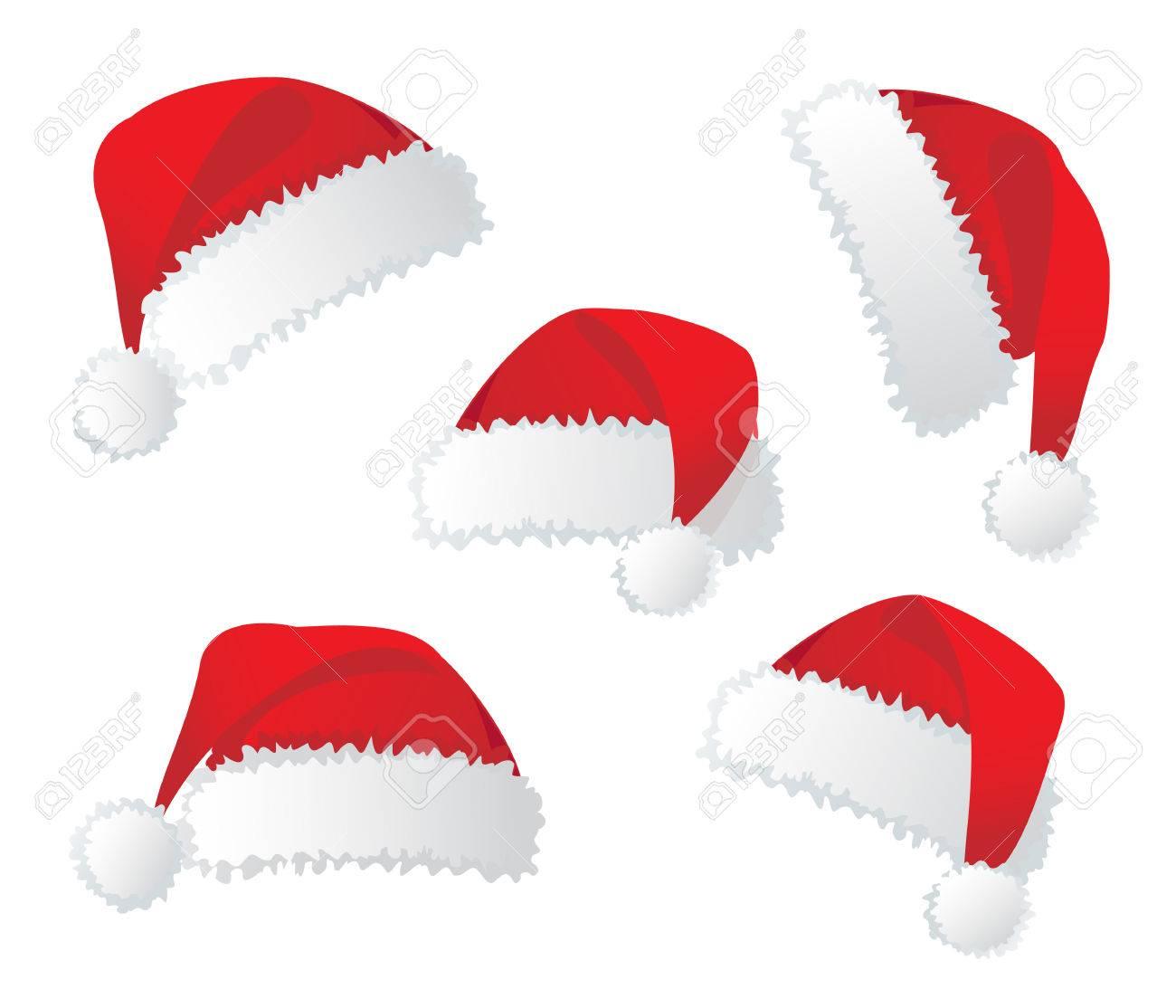 Santa's red hat. Vector illustration Stock Vector - 3721195