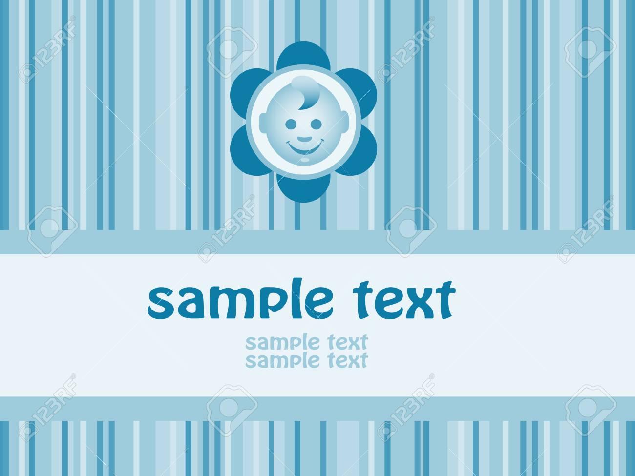 Baby boy arrival announcement card. Vector-Illustration Stock Vector - 4761362