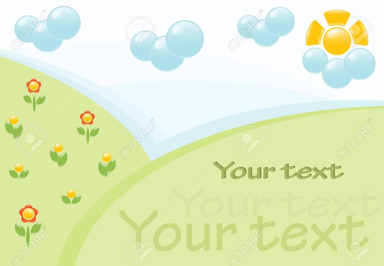 Summer landscape banner. Vector-Illustration Stock Vector - 5329767