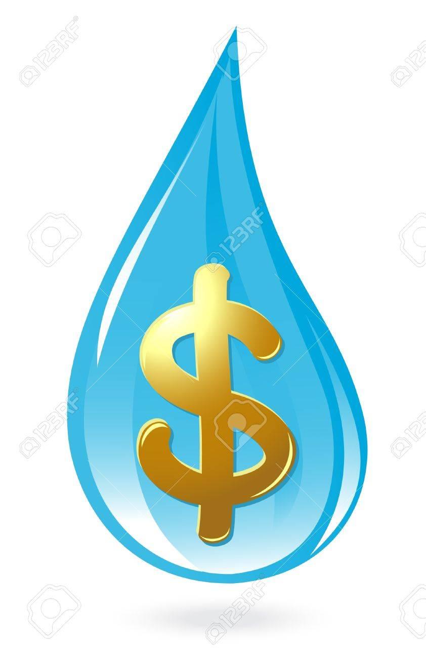 Water drop with dollar symbol Stock Vector - 12300906