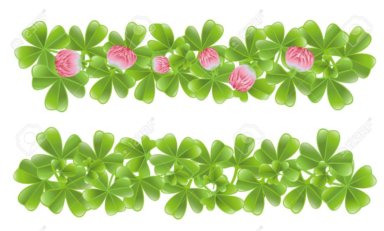 Two clover leafs banners Stock Vector - 12298501