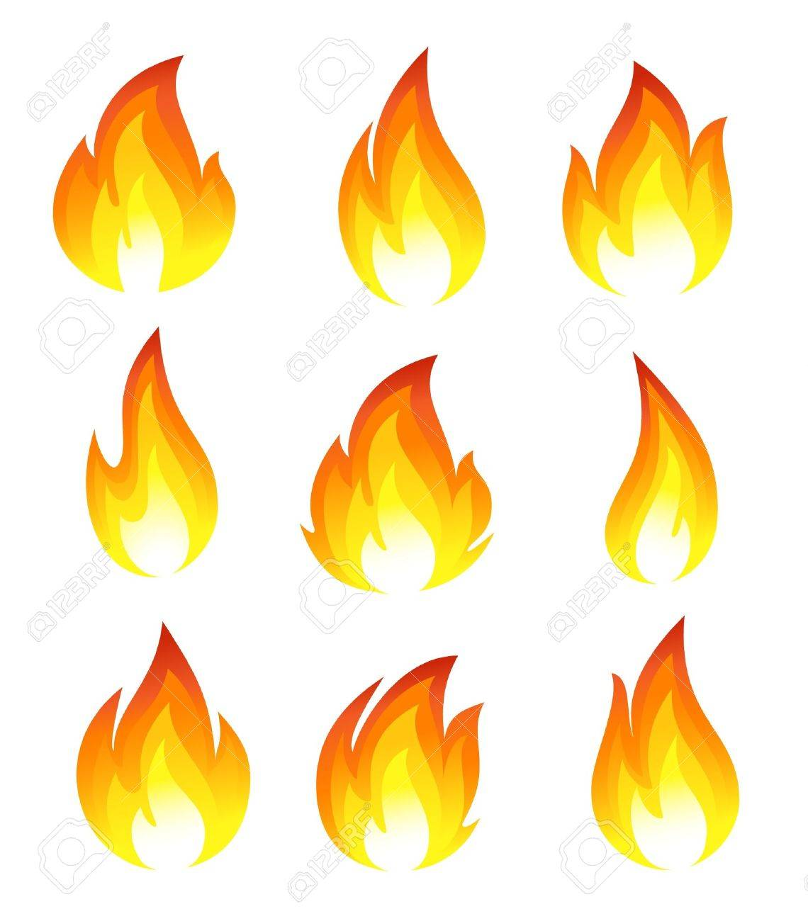 Collection of fire icons - 12992024