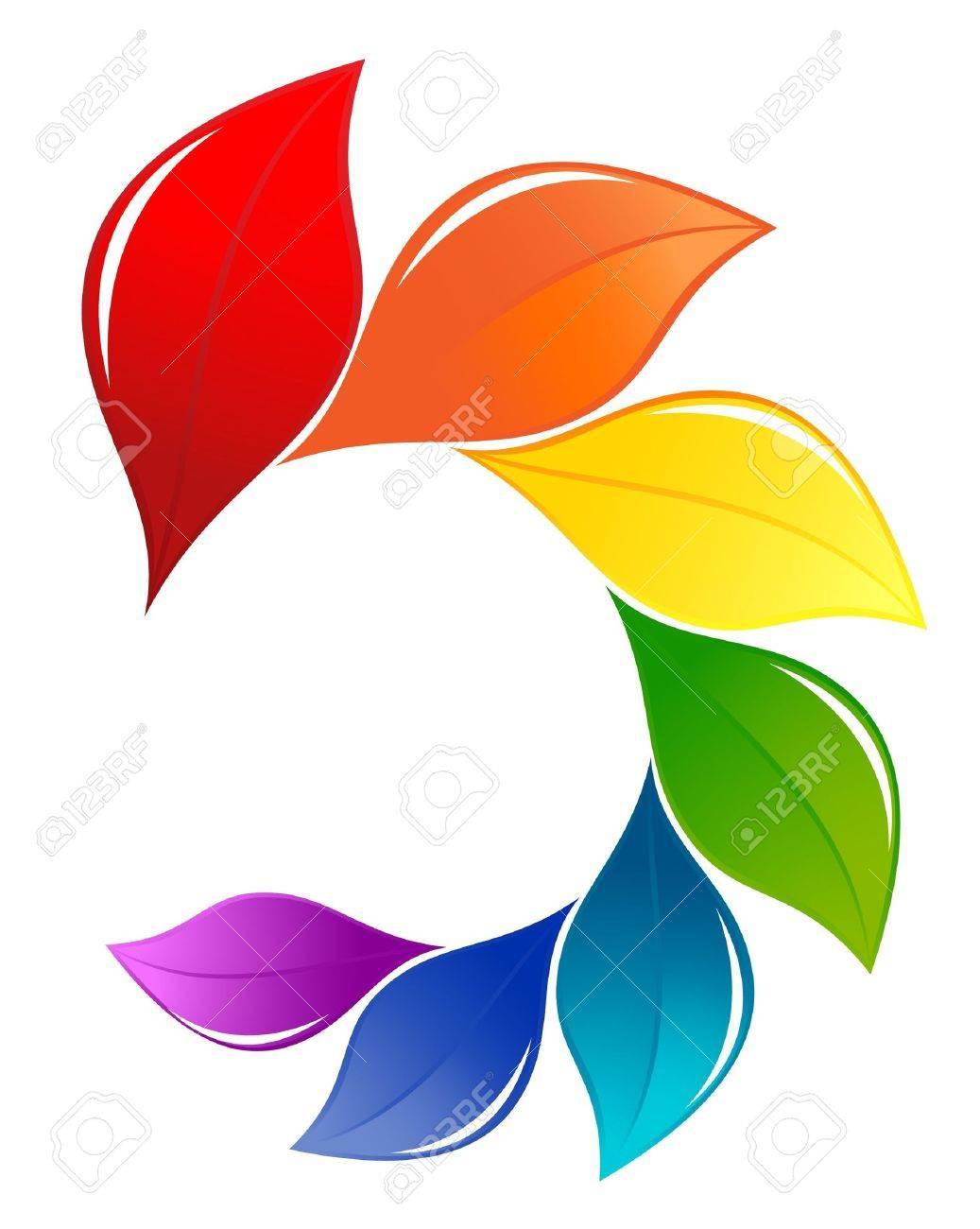 Nature design element in spectrum colors Stock Vector - 13596789