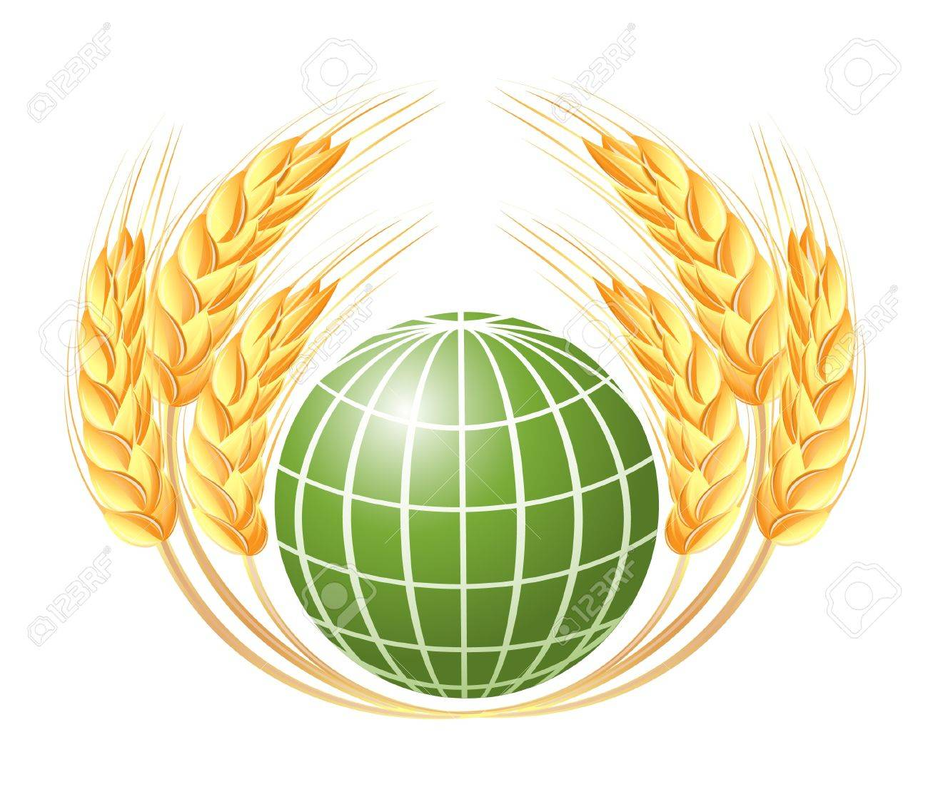 Abstract globe with wheat ears Stock Vector - 14008485