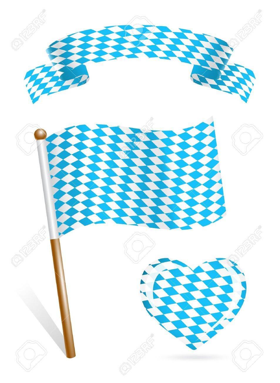 Set of Bavaria flag icons Stock Vector - 14437551