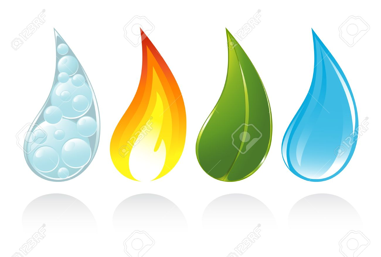 The four elements of life Stock Vector - 14794268