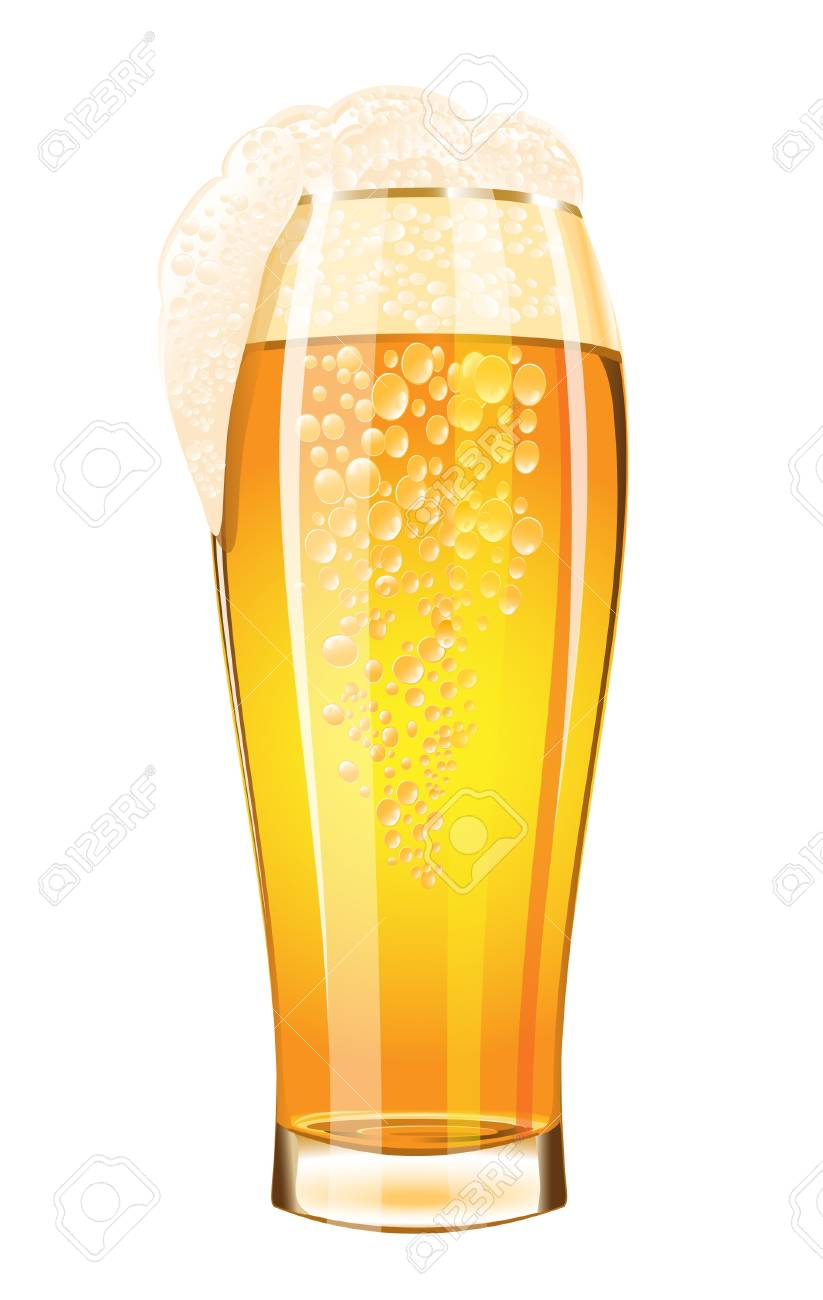 Glass of beer on a white background Stock Vector - 14794277