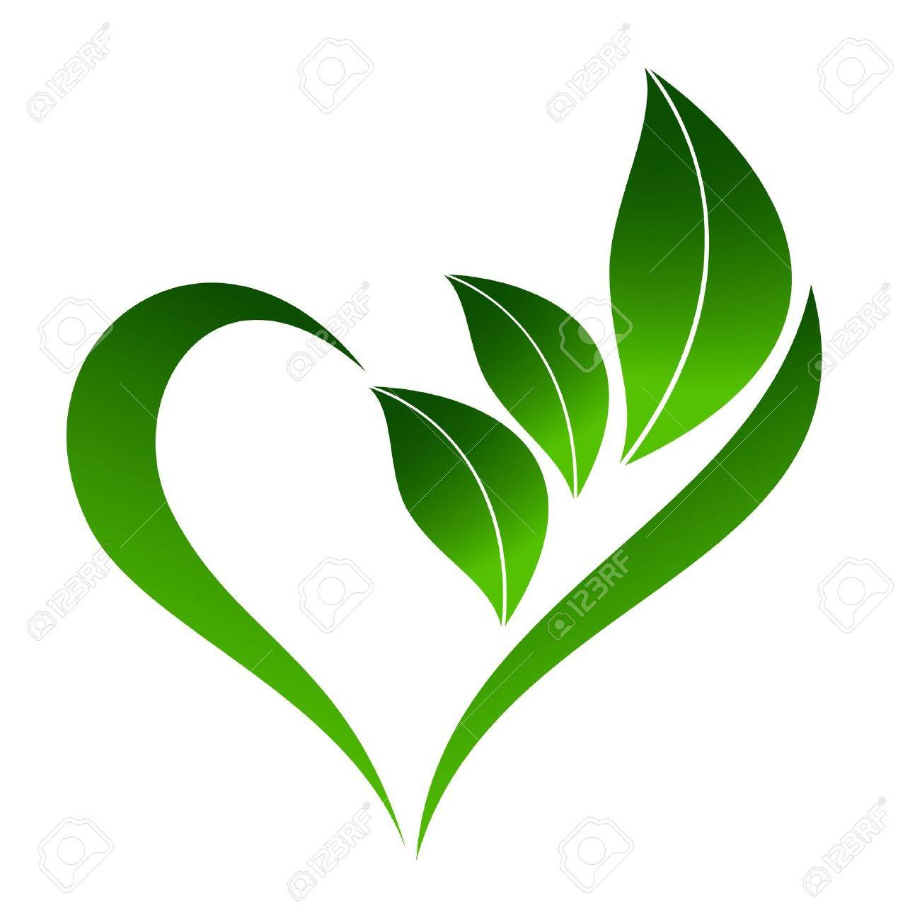 Abstract Plant Icon With Heart Element Royalty Free Cliparts Vectors And Stock Illustration Image 15988922