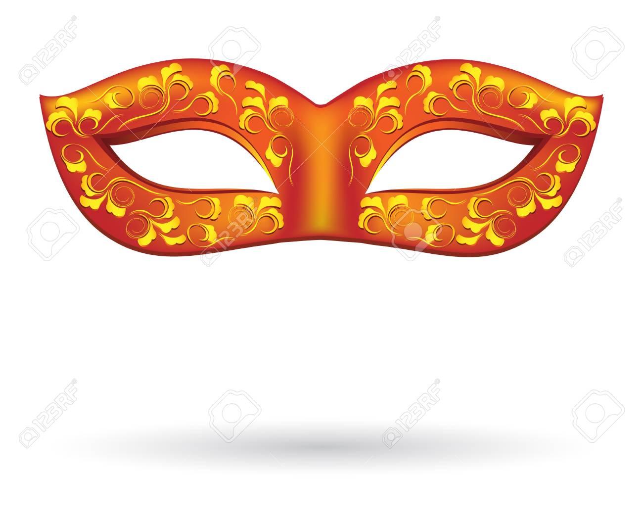 Carnival masks in red Stock Vector - 17708259