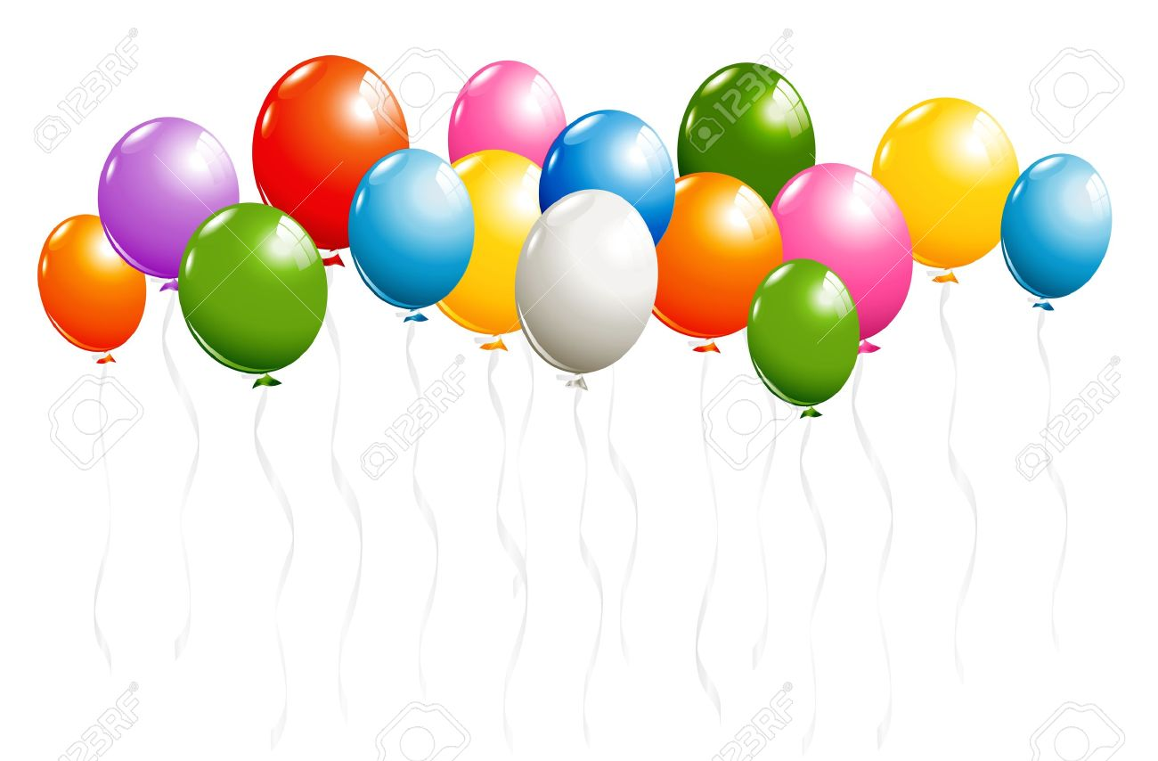 Shiny balloons border isolated on white royalty free cliparts shiny balloons border isolated on white stock vector 18327655 thecheapjerseys Gallery