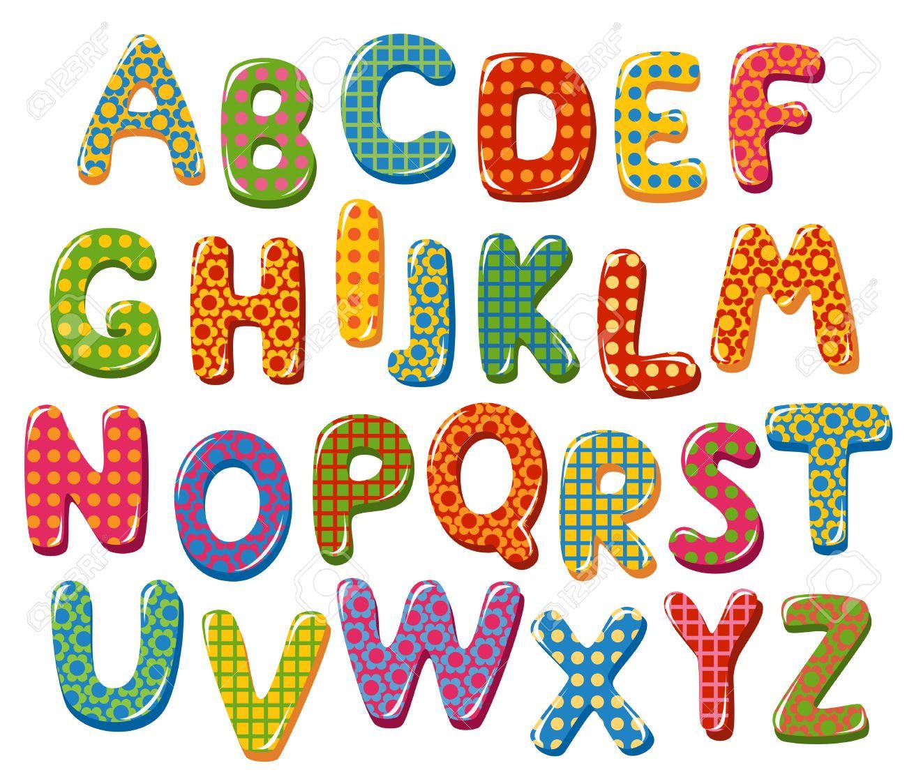 Scoubi-défis : LE DEFI ! - Page 21 23832474-lettres-de-l-alphabet-color%C3%A9s