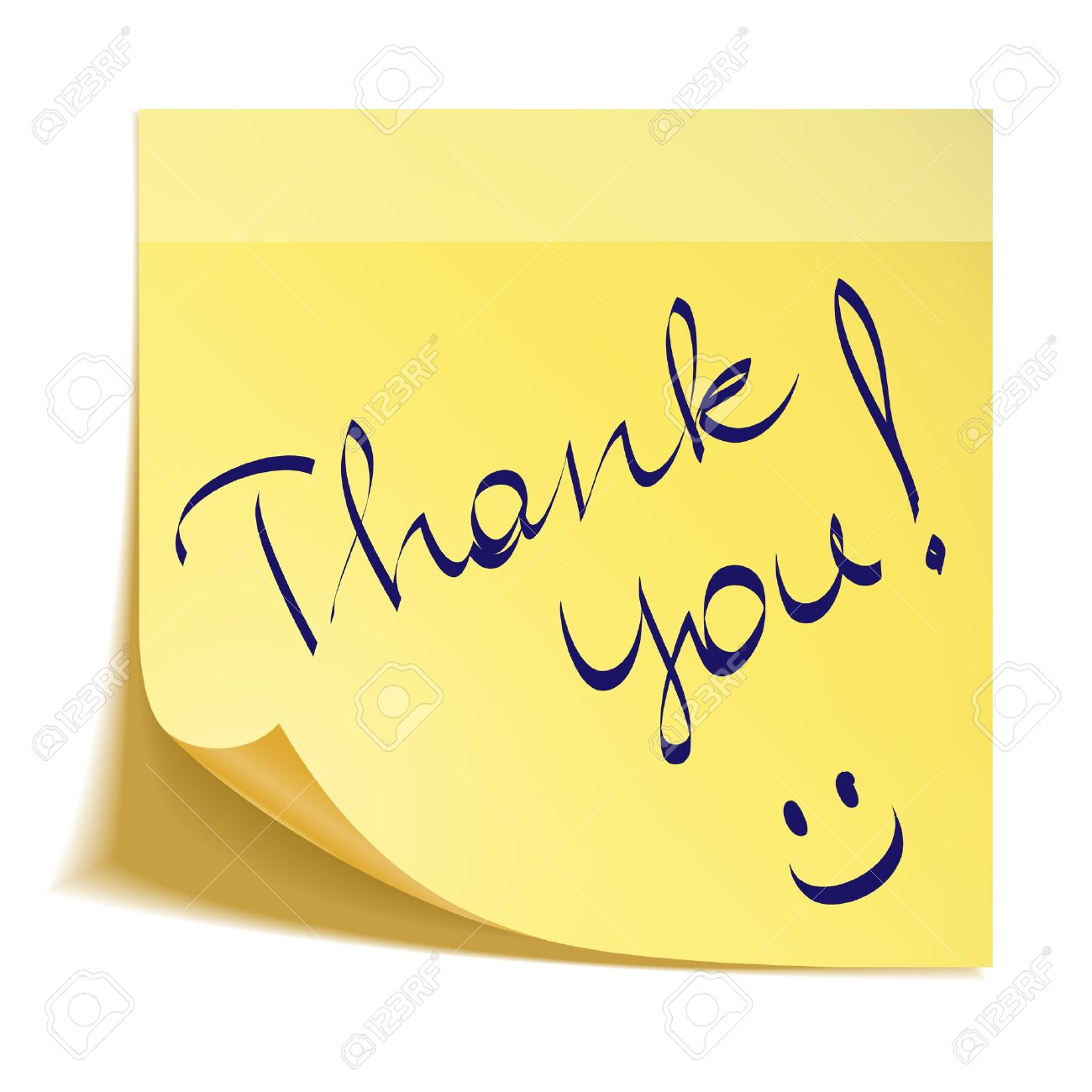 thank you note with smiley royalty free cliparts vectors and stock