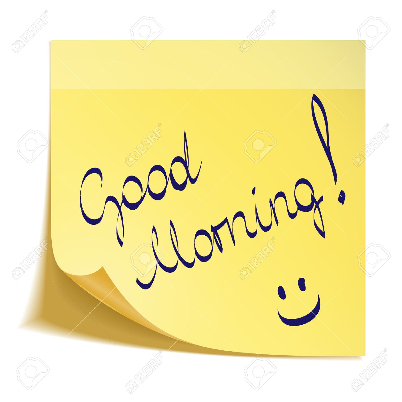 Good Morning Note With Smiley Royalty Free Cliparts Vectors And