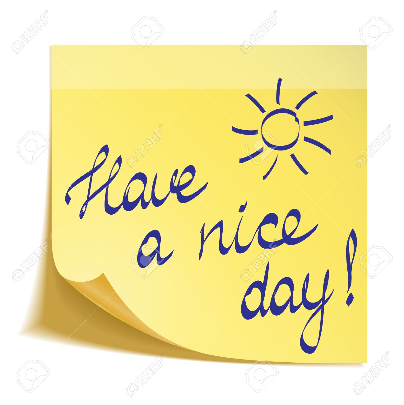 Have A Nice Day Note Royalty Free Cliparts Vectors And Stock