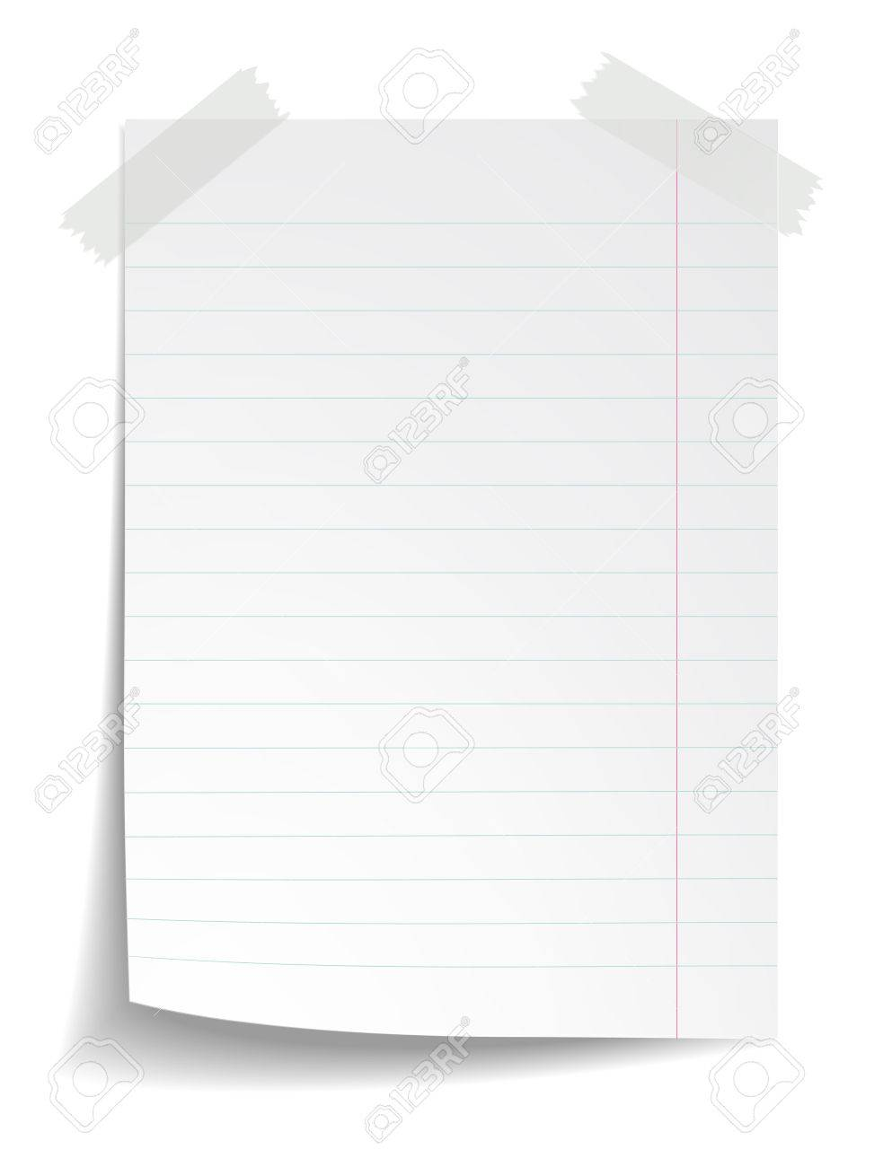 White Striped Notebook Paper On White Background Royalty Free Cliparts Vectors And Stock Illustration Image 30028644 Choose from 1000+ notebook paper graphic resources and download in the form of png, eps png images. 123rf com
