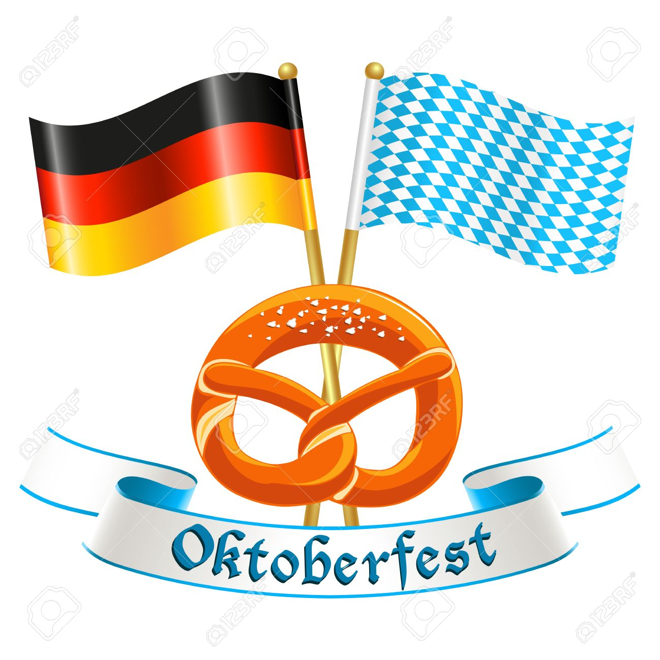 Oktoberfest Celebration Design With Silk Banner German National