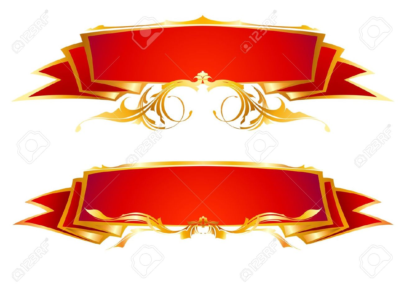 Set Of Red Ribbons Royalty Free Cliparts, Vectors, And Stock ...
