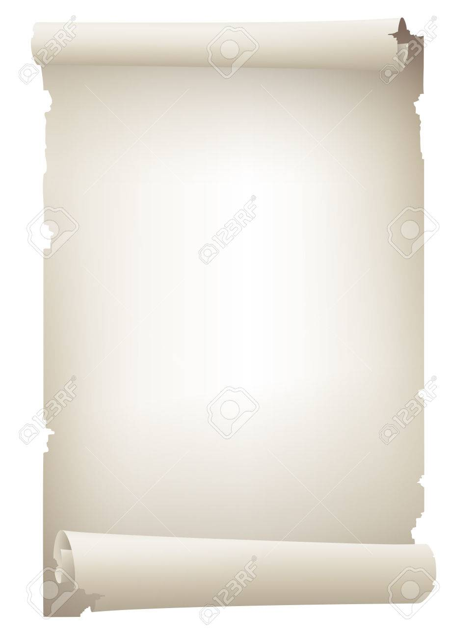 old paper banner , vector drawing - 28460482