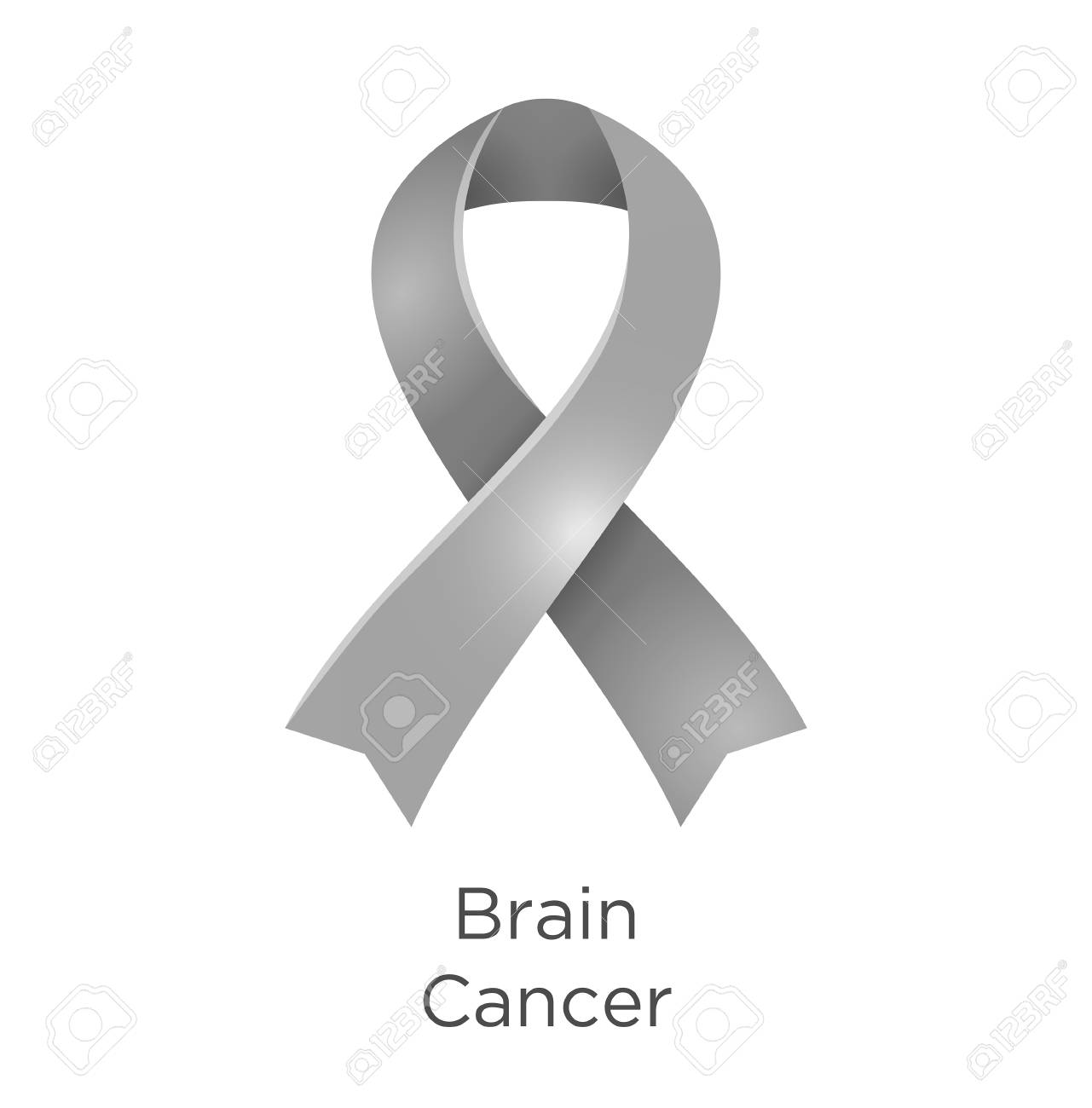 Brain Cancer Awareness Month In May Brain Tumor Grey Color