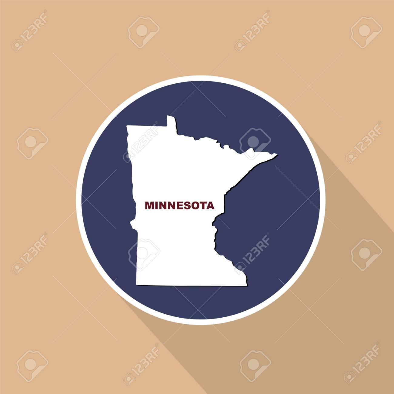 U Of Minnesota Map.Map Of The U S State Of Minnesota On A Blue Background State