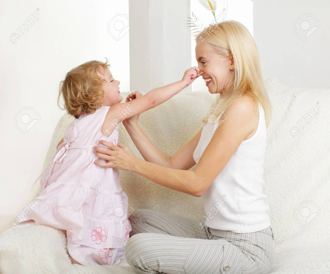 Happy mother with a daughter at home Stock Photo - 9626167