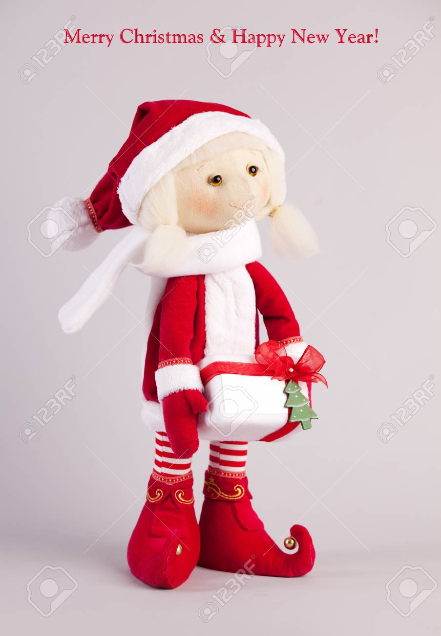 Christmas doll. Christmas cards. Stock Photo - 12784146