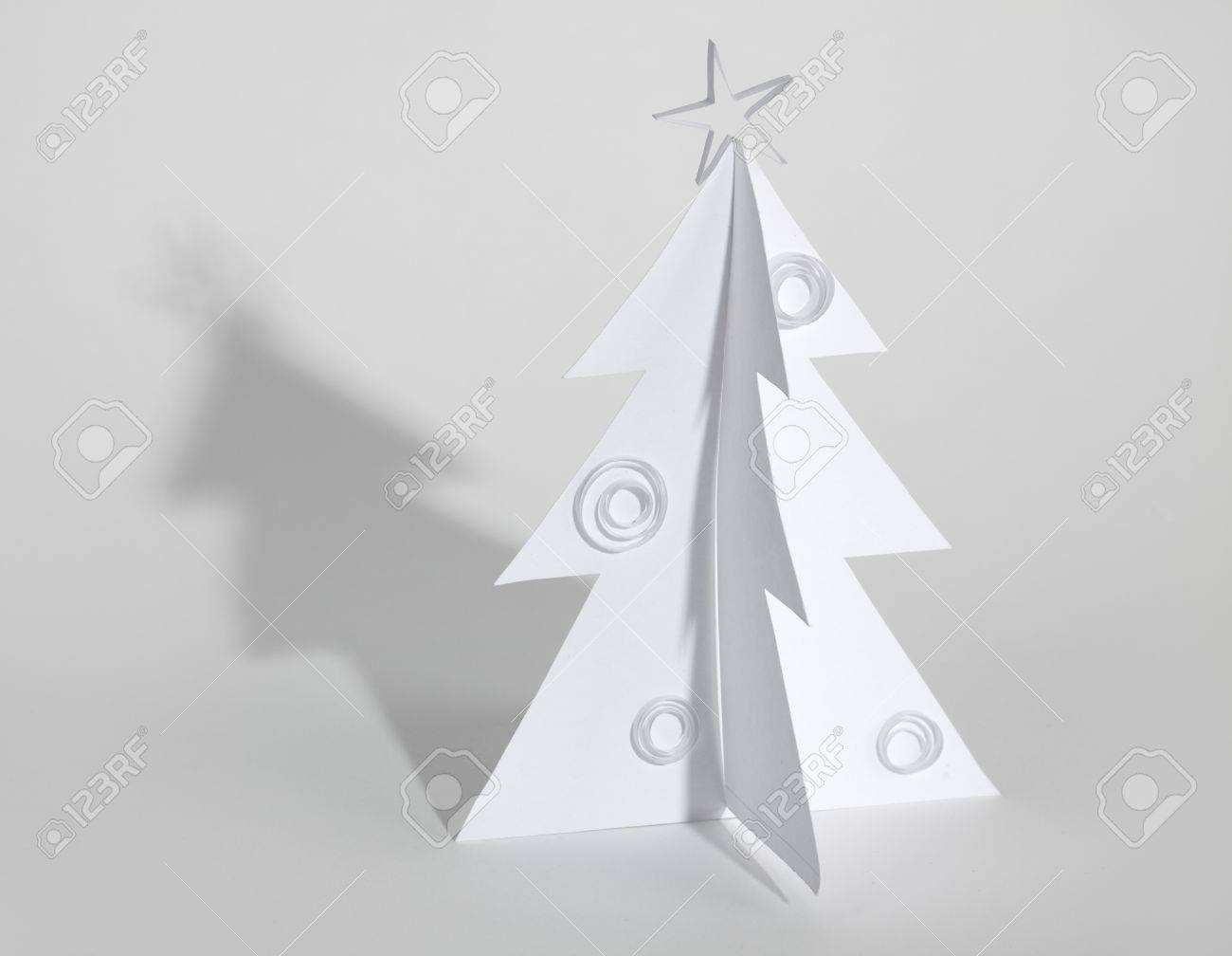 Christmas tree made of paper. Christmas card Stock Photo - 15127959