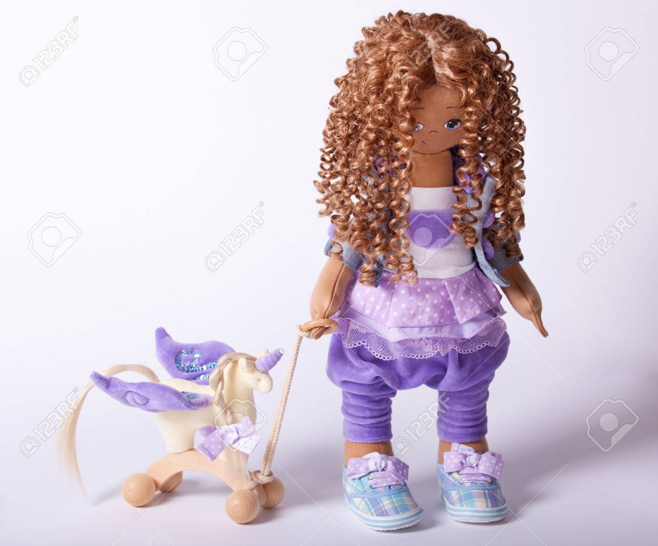 Doll. Handmade Stock Photo - 27299012