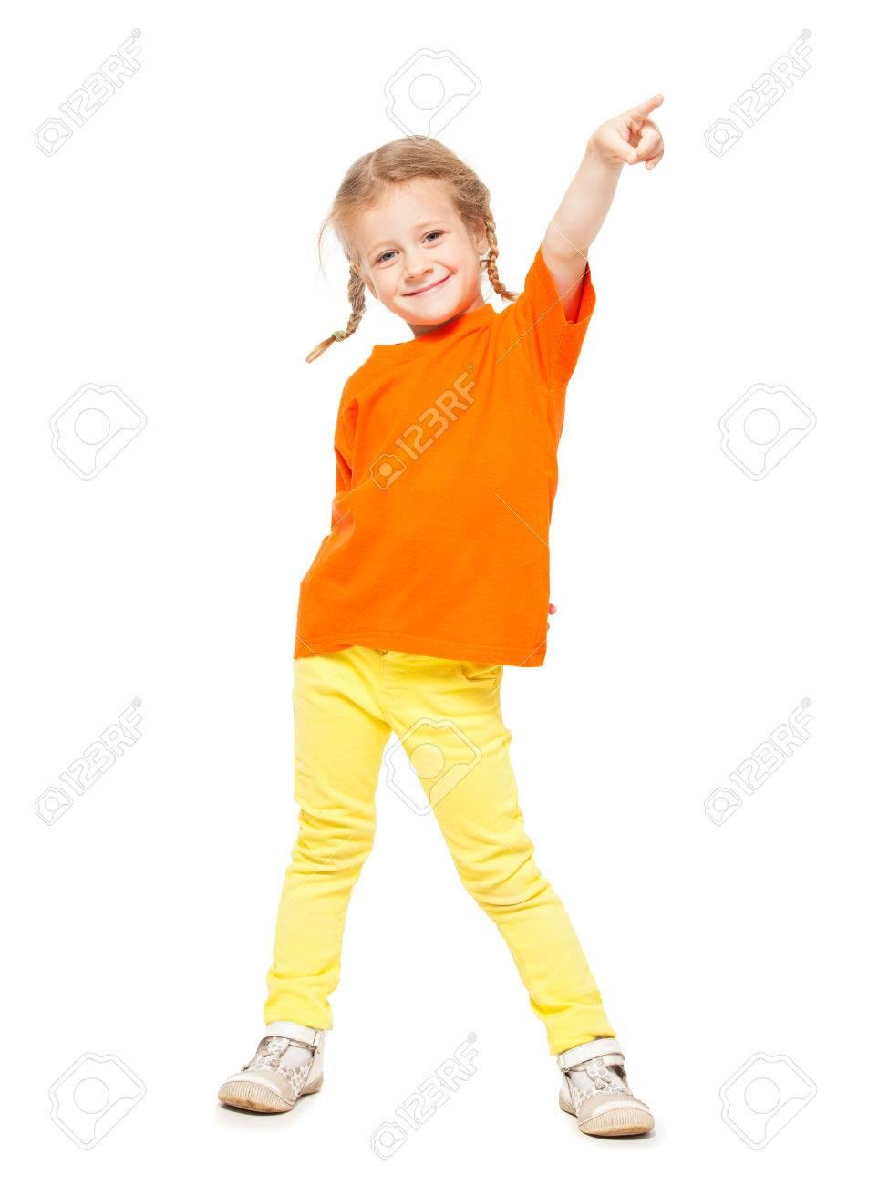Nina En Pantalones Vaqueros De Color Amarillo Nino En El Fondo Blanco Fotos Retratos Imagenes Y Fotografia De Archivo Libres De Derecho Image 31281788