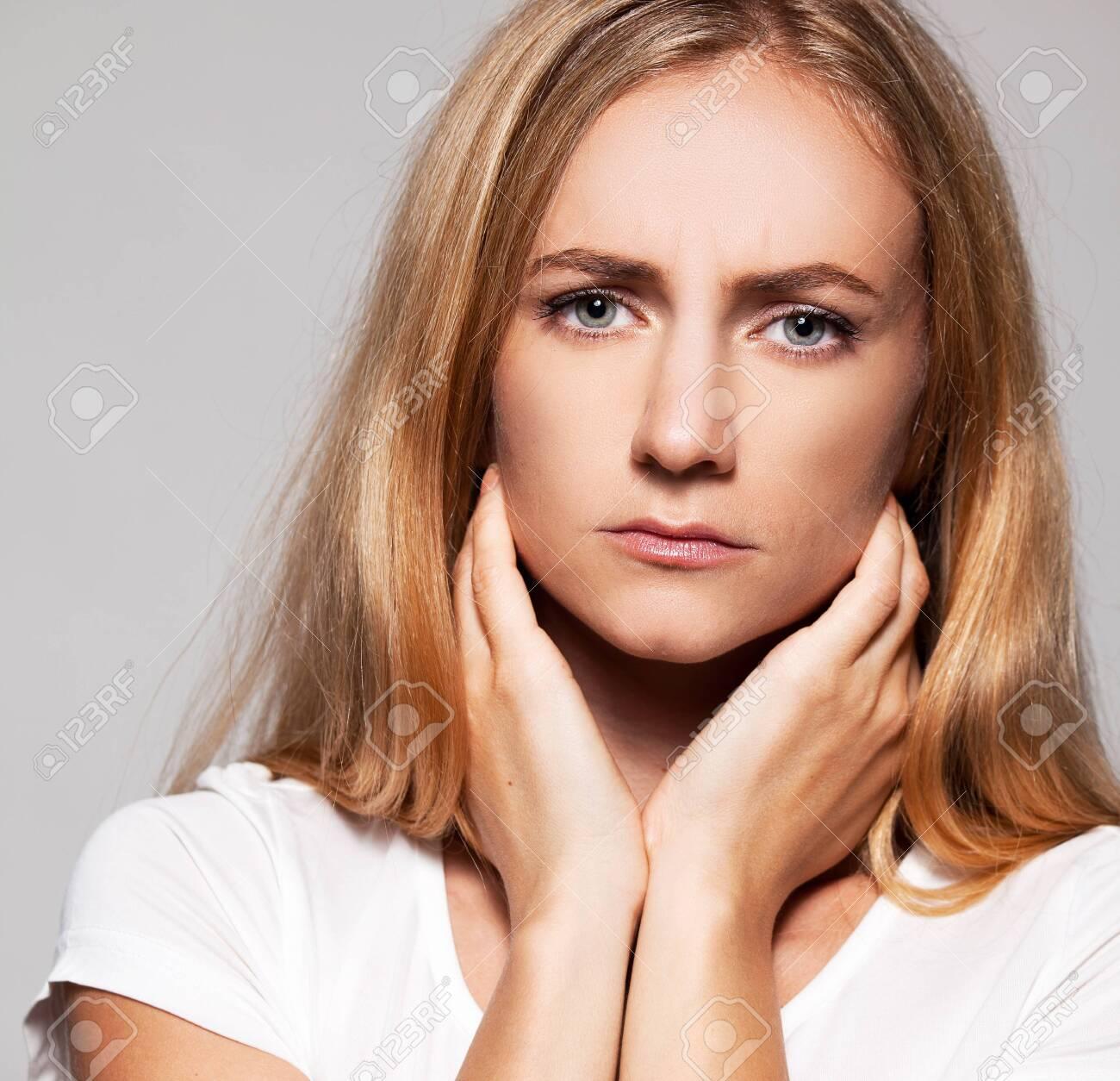 Sad female. Upset woman Problems - 142892454