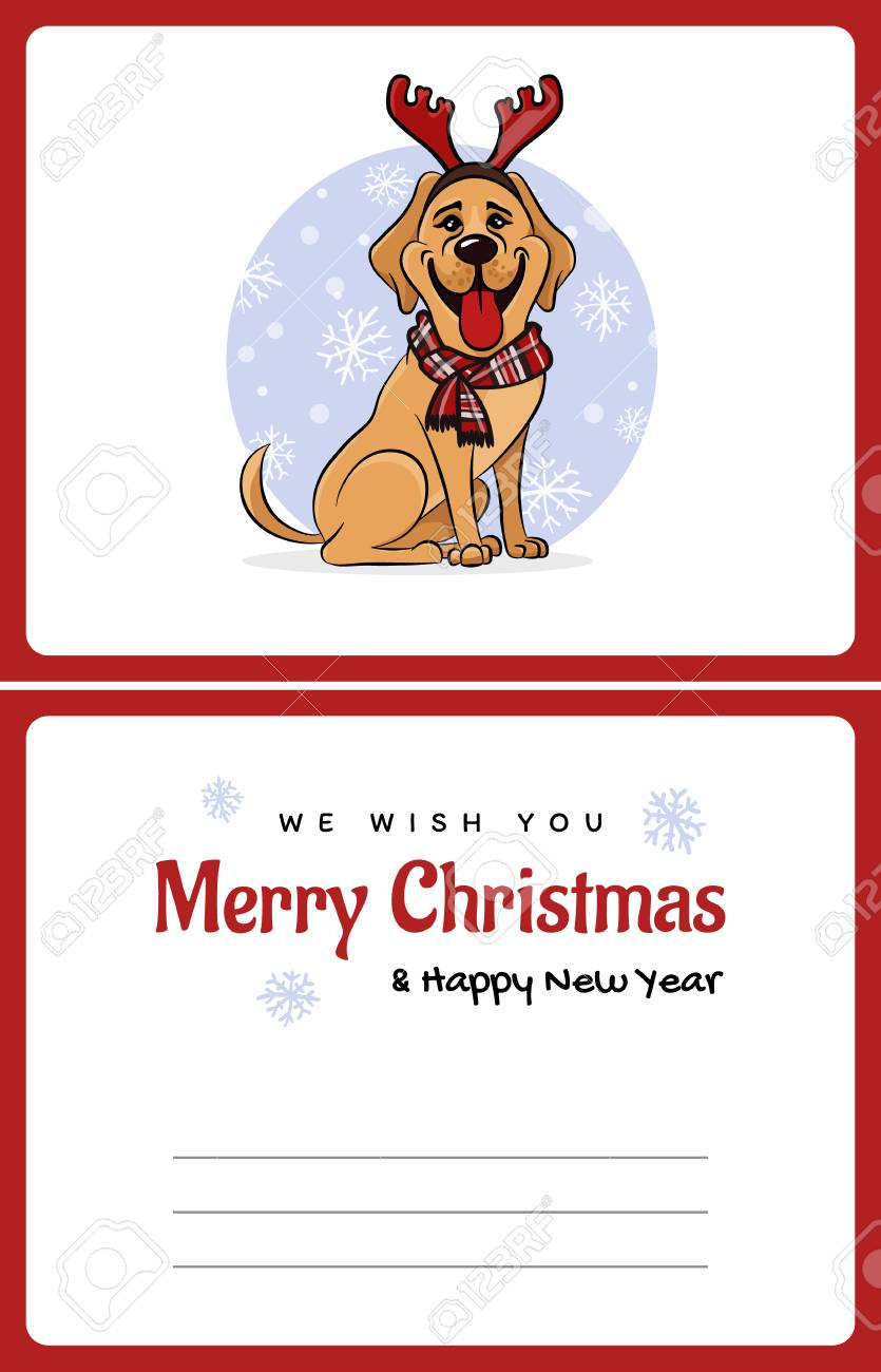Greetings Card We Wish You A Marry Christmas And Happy New Year ...